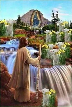 Science Discover The Good Shepherd Jesus Christ Images Pictures Of Christ Religious Pictures Saint Esprit The Good Shepherd Jesus Is Lord Jesus Cristo Blessed Mother Mother Mary Mary Jesus Mother, Blessed Mother Mary, Mary And Jesus, Jesus Is Lord, Mother Mother, Pictures Of Jesus Christ, Religious Pictures, Beautiful Landscape Wallpaper, Jesus Is Risen