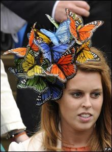 princess beatrice butterfly hat - Google Search