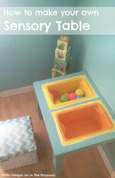 How to make your own sensory table. Awesome diy sensory table Ikea hack