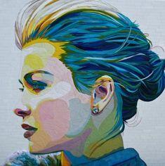Nicoline van Wonderen Pastel Face ( 120 X 120 )