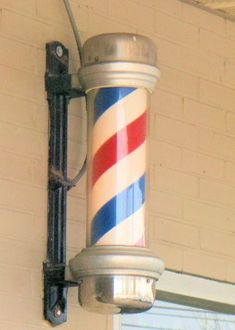 Old Barber Shop poles , they all had them.  men went to barber shops, women went to the beauty shop. barber shops also gave men a shave if they wanted it!