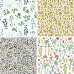 http://patternobserver.com/ Watercolor Herb Garden Pattern Marie Gardeski (1) copy