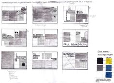 Communication Design - Magazine Layout Visualisation Drawings  Design Practice: OUGD103- InDesign Layouts and Final