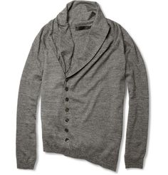 Fitted Gray Cardigan