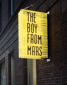 THE BOY FROM MARS | Paris | Signage