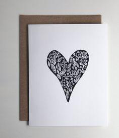 HEART card | string & pine