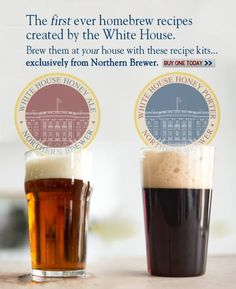 Homebrew Finds: Northern Brewer: White House Homebrew Recipe Kits