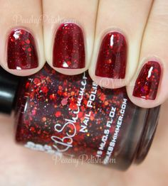 """KBShimmer Leaf Of Faith   Fall 2014 Collection """"Leaf Of Faith"""" has shades of red and orange glitter and shimmer in a blood red jelly base.  As juicy as can be!  So squishy too.  It would be amazing for a Halloween themed mani!  3 coats here."""