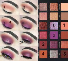Huda Beauty Eyeshadow, Huda Beauty Makeup, Eye Makeup, Makeup List, Makeup Guide, Makeup Brushes, Makeup Goals, Makeup Inspo, Makeup Inspiration