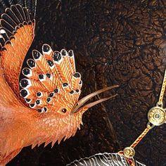 Равновесие, деталь. #melu #удод #птица #авторскаятехника