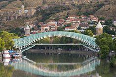 Equally liked and reviled Peace bridge, #Tbilisi, #Georgia