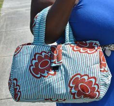 Blue And Red Tote Bag by ZabbaDesigns on Etsy, $25.00