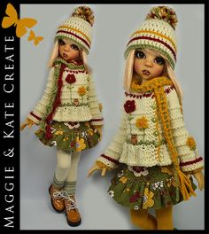 ** FALL ** Outfit for Kaye Wiggs 18 MSD BJD by Maggie & Kate Create