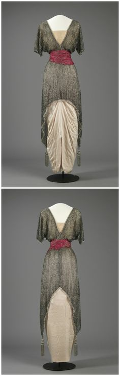 Evening dress belonging to Queen Maud of Norway, c. 1914. The National Museum of Art, Architecture and Design, Oslo, via DigitaltMuseum (link: http://digitaltmuseum.no/011061626308?pos=22&count=133&folder_id=2144).