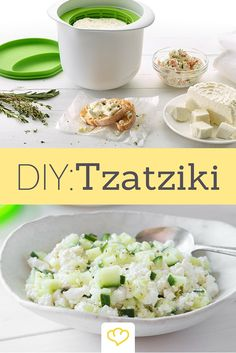 Tzatziki zuhause mit der Lékué-Frischkäse-Set selber herstellen - Frischer geht's nicht!