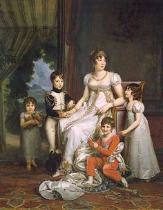 1808 Caroline Murat, Queen of Naples, and Her Children by François Pascal Simon Gérard (Fontainebleau) | Grand Ladies | gogm