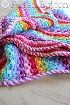 Basket of Rainbows Blanket by Susan Carlson of Felted Button