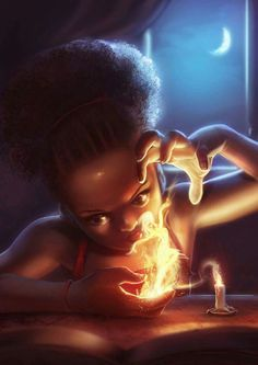 """""""Playing With Fire"""", illustrated by Godwin Akpan.  Follow the artist here: https://facebook.com/godwin.akpan1"""