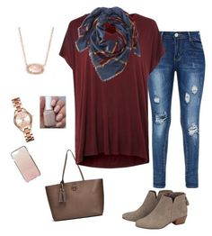 """""""Hello fall!"""" by natalierenea on Polyvore featuring Tory Burch, Michael Kors, Topshop, Kendra Scott, L.L.Bean and Kate Spade"""