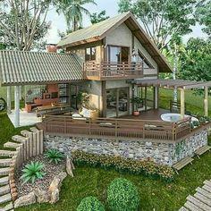 Tiny House Village, Tiny House Cabin, Village Houses, House Layout Plans, House Layouts, Tyni House, Tropical House Design, Minimal House Design, House Construction Plan