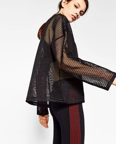 Image 2 of MESH SWEATSHIRT from Zara