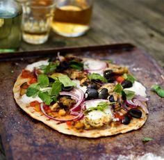 pizza I Love Food, Good Food, Yummy Food, Tasty, Pizza Light, Food For Thought, Pizza Vegetal, Pizza Vegetariana, Organic Pizza