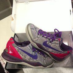 Nike Kobe VIII System  Mine Grey  Nike Basketball Shoes 28223b966915a