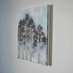 Acrylic painting by Hammi´s Design.   Korkealla-maalaus <3  #männyt #luonto #turkoosi #pronssi #maalaus #hammisdesign Paintings, Design, Art, Art Background, Paint, Painting Art, Kunst, Performing Arts