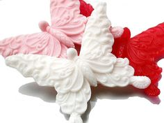 Valentines Day Butterfly Soap  Filigree Kisses Set by SoapRhapsody, $8.00