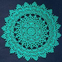 Ravelry: Irene pattern by Patricia Kristoffersen Crochet Wool, Thread Crochet, Filet Crochet, Crochet Crafts, Crochet Projects, Crochet Potholder Patterns, Crochet Motif, Mandala Crochet, Lace Doilies