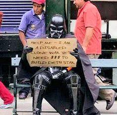 Homeless Vader.