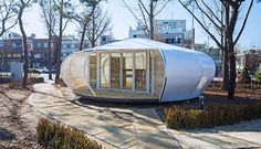 The Mobile Library Project in Seoul  In collaboration with Jae-Choul Choi John (Pyung Ki) Kim and Woo-Yeol Lee Korean studio Spacetong (Archiworkshop) is the author of a project that will please to the big readers and lovers of retreat places : The Mobile Library Project. Its an initiative launched by the Innovation Park of Seoul and the Seoul city to redynamize a sector led by the Ministry of Food and Drugs Safety. A lot of start-ups took place in this sensible area but Spacetongs project…