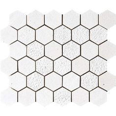 Champagne Textured 10 3/8x12 Hexagon Limestone Mosaics.