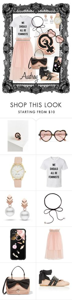 """Feminist"" by drey004 ❤ liked on Polyvore featuring Felt Good Co., Cutler and Gross, Nine West, Escalier, Casetify, Mother of Pearl, RED Valentino and Miu Miu"