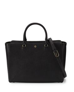 Robinson Large Zip-Top Tote Bag, Black by Tory Burch at Neiman Marcus.