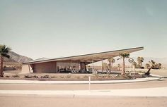 The Albert Frey-designed Tramway Gas Station (1963) in Palm Springs now houses a visitor centre