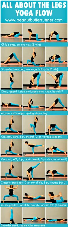 A yoga flow designed to stretch and strengthen the legs as well as improve balance and focus. Photo guide along with video demonstration. A yoga flow designed Fitness Workouts, Yoga Fitness, Fitness Motivation, Health Fitness, Health Diet, Video Fitness, Fitness Logo, Fitness Quotes, Fitness Hacks