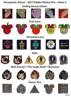 New Hidden Mickey Pins for 2017 to Collect and Trade at Disney Parks