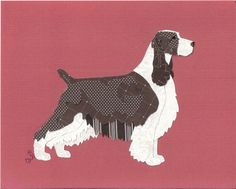 English Springer Spaniel Cut Up. This will be my inspiration to get quilts made for all four furkids!