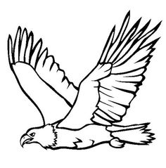 Flying Eagle Bird Coloring Page  Animal Coloring pages of