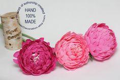 pink peonies, wedding flowers, paper flower bouquet, bridal bouquet, bridesmaids bouquet, alternative bouquet. $22.00, via Etsy.
