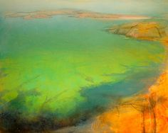 Encaustic Landscape Paintings | Found on bethrobertsonfiddes.com