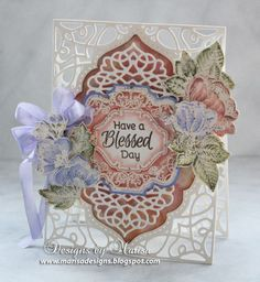 Birthday Floral Vintage Labels Eight and Nine Clear Stamps