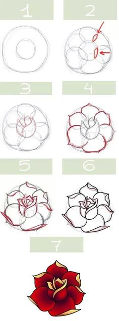 Imagen de drawing, flowers, and tutorial