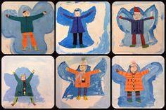 BES Art: Second Grade Snow Angels