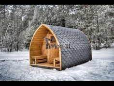 Outdoor garden sauna igloo design timberin wooden hot - Maison bois litouwen ...