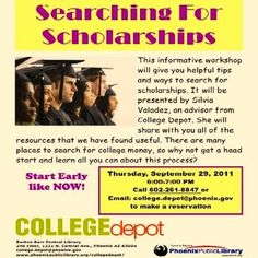 View slideshow: Great opportunity to learn key college application steps.