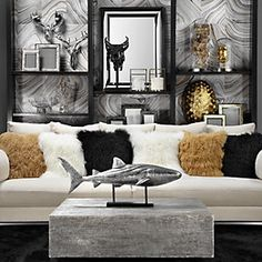 home decor: mixed metals | zen living rooms