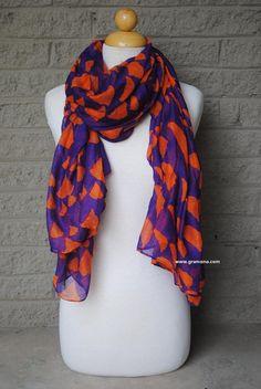 Clemson University Orange and Purple - South Carolina State Spirit Scarf on Etsy, $20.00