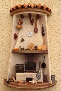 Tile Crafts, Fun Crafts, Diy And Crafts, Pottery Houses, Ceramic Houses, Vitrine Miniature, Miniature Houses, Glow Table, Christmas Gingerbread House